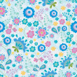 Seamless pattern with flowers - Stock Vector