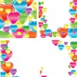 Set of four beautiful backgrounds with hearts — Stock Vector #9111657