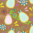 Seamless colorful Easter background — Stock Vector