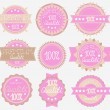 Tender High Quality Labels Collection — Stock Vector