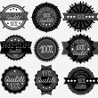 Dark High Quality Labels Collection — Stock Vector
