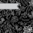 Beautiful dark floral background — Stock vektor