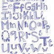 Hand drawn alphabet — Stok Vektör #9537147
