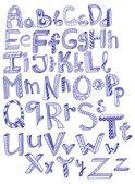 Hand dras alfabetet — Stockvektor