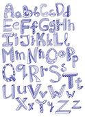 Hand drawn alphabet — Vettoriale Stock