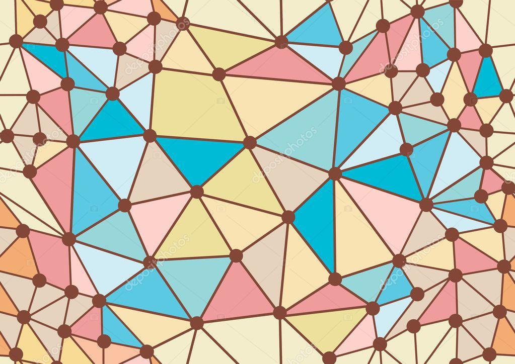 几何炫彩涂鸦无缝模式图