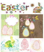 Easter cards set — Stockvektor