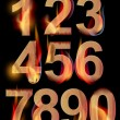 Burning numbers — Stock Vector #9694094