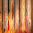 Wood texture background in fire — Stock Photo