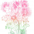 Wild flowers background - Stock Vector