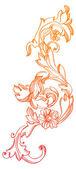 Mano dibujado fondo floral vintage — Vector de stock