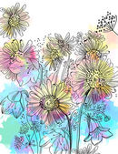 Romantic Flower Background — Stock Vector