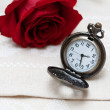 Pocket Watches and Rose — Stock Photo #9774002