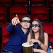 Couple at the cinema - Stock Photo