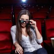 The girl in 3D glasses - Stock Photo