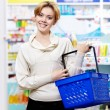 Stock Photo: Buyer at pharmacy