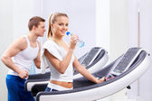 In the fitness club — Stock Photo