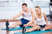 In the gym — Stockfoto