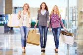 Girls in shop — Stock Photo