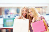 Woman with shopping bag — Stockfoto