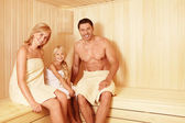 In the sauna — Stock Photo