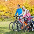 Stock Photo: Autumn walk by bicycle
