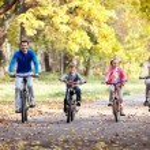 Family on bikes — Stock Photo #8528042