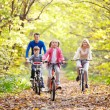 Riding on bicycles — Stock Photo #8528046