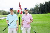 Two men on golf course — Stock Photo