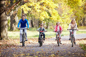 Famiglia in bici — Foto Stock