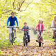 Stock Photo: Walk on bicycles