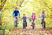 Walk on bicycles — Stock Photo