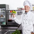koken in uniform — Stockfoto