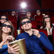 In the cinema — Stock Photo