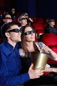 观看电影的 3d 眼镜 — 图库照片