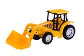Excavator toy on white — Stock Photo