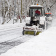 Two tractor snow removal - Stock Photo