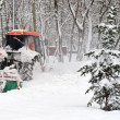Small tractor snow removal - Foto Stock