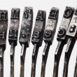 Stock Photo: Letters of the old typewriter