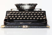 Ancient portable typewriter — Stok fotoğraf