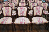 Empty auditorium with chairs — Stock Photo