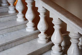 Ancient marmoreal stairs with balusters — Stock Photo