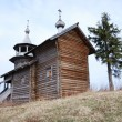 Orthodox  wooden church in the village of Manga, Karelia, Russia — Stock Photo