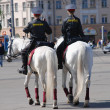Mounted policewomen — Stock Photo
