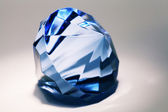 Big blue false diamond — Stock Photo