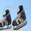 Stock Photo: Vintage pair of mens skates