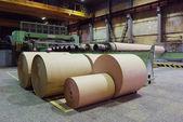 Rolls of kraft paper — Stock Photo