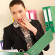 Surprised business woman in her office — Stock Photo #10228063