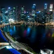 Business center of Singapore at night - Foto de Stock