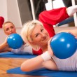 Group of doing fitness exercise — Stock Photo #8499062